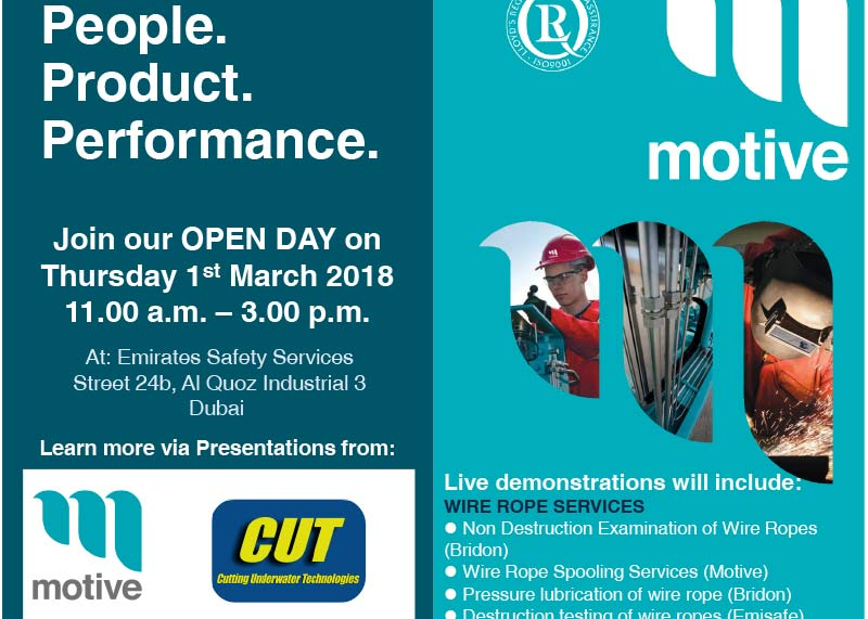 CUT & Motive – Dubai Open Day